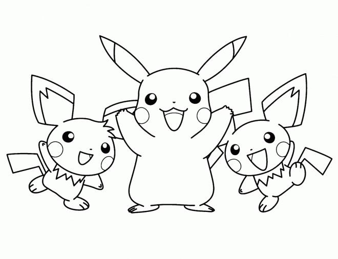 Coloriage et dessins gratuits Pikachu stylisé à imprimer
