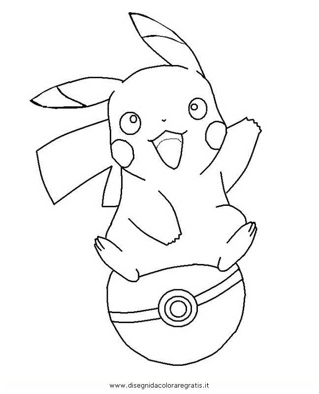 Coloriage pikachu sur balle de pok mon dessin gratuit imprimer - Coloriage de pikachu ...