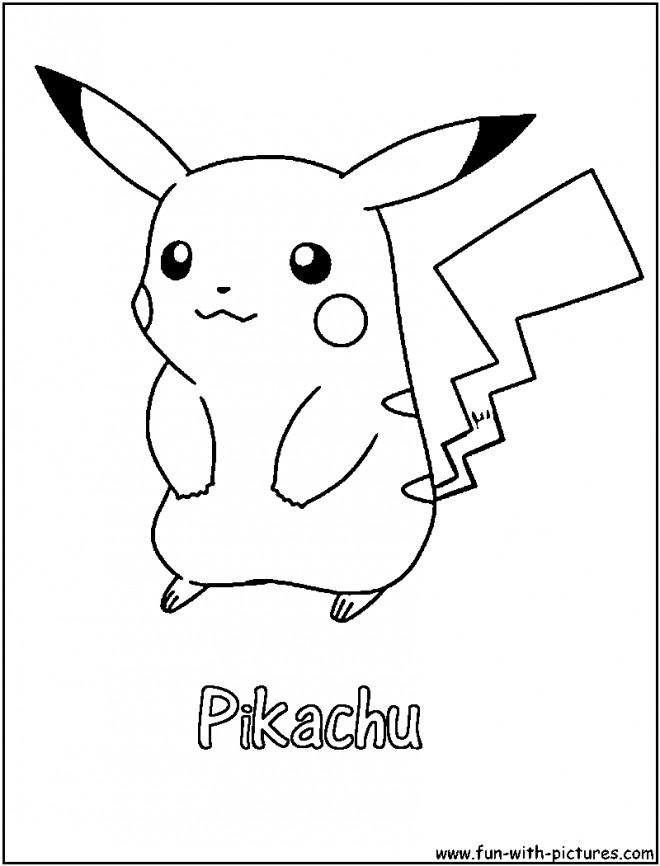 Coloriage et dessins gratuits Pikachu sur ordinateur à imprimer
