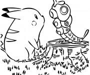 Coloriage et dessins gratuit Pikachu vecteur à imprimer