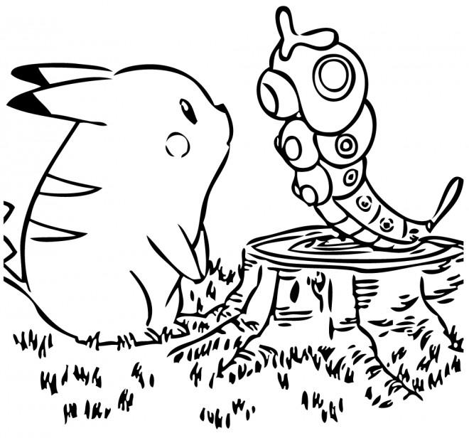 Coloriage et dessins gratuits Pikachu vecteur à imprimer