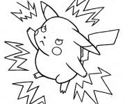 Coloriage Pokémon électrique Pikachu