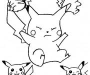 Coloriage Pokemon Pikachu Gratuit à Imprimer Liste 40 à 60