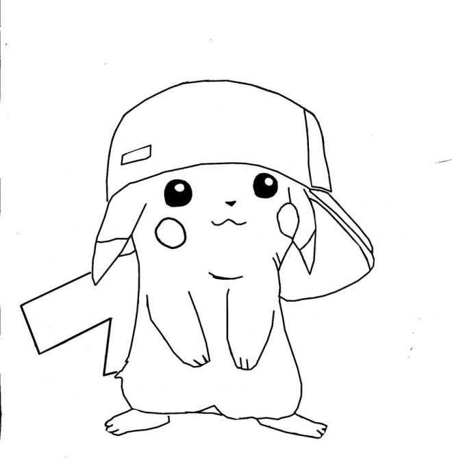 Coloriage pokemon pikachu 2 dessin gratuit imprimer - Dessins pokemon ...