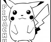 Coloriage Pokemon Pikachu 6