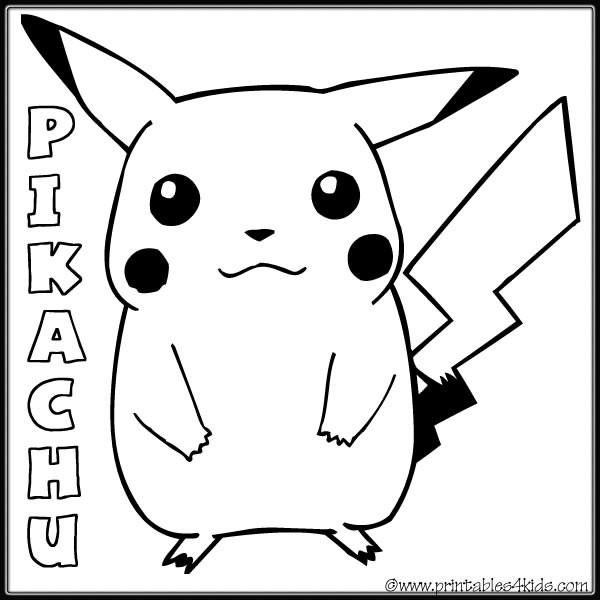 Coloriage et dessins gratuits Pokemon Pikachu 6 à imprimer