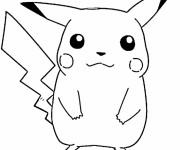 Coloriage et dessins gratuit Pokémon Pikachu à imprimer