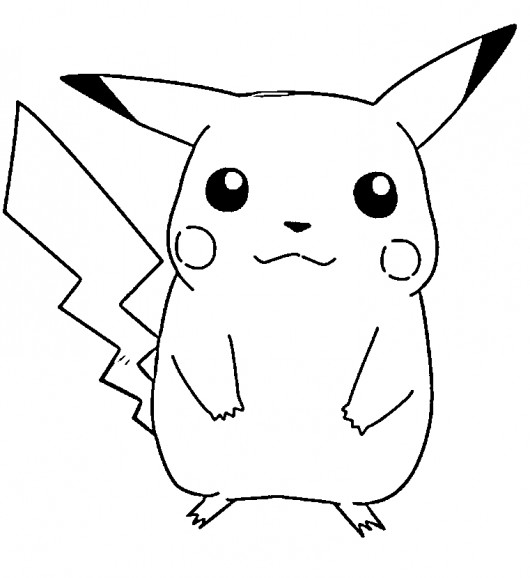 Coloriage et dessins gratuits Pokémon Pikachu à imprimer