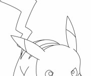Coloriage et dessins gratuit Pokémon Pikachu à colorier à imprimer