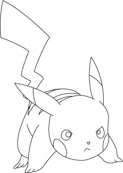 Coloriage et dessins gratuits Pokémon Pikachu à colorier à imprimer