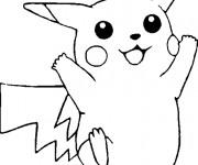Coloriage Pokémon Pikachu aimable