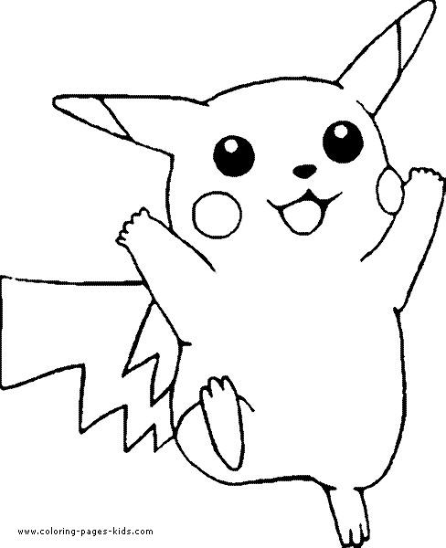 Coloriage et dessins gratuits Pokémon Pikachu aimable à imprimer
