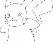 Coloriage Pokémon Pikachu en colère