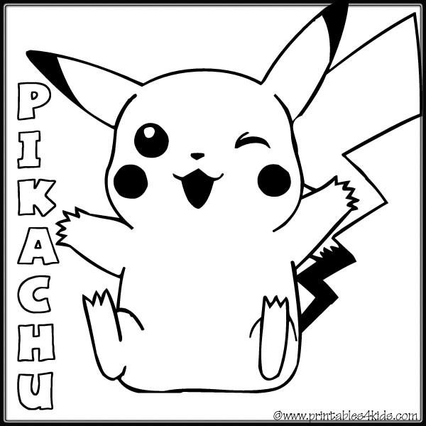 Coloriage et dessins gratuits Pokémon Pikachu mignon pour enfant à imprimer