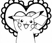 Coloriage Pokémon Pikachu silhouette