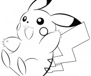 Coloriage Pokémon Pikachu vif
