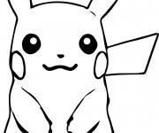 Coloriage Portrait de Pikachu