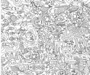 Coloriage et dessins gratuit Adulte Difficile Vie dans La mer à imprimer