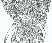 Coloriage Adulte Éléphant Anti-stress