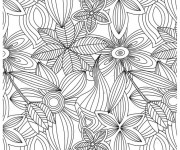 Coloriage et dessins gratuit Adulte Jardin Fleurs à imprimer