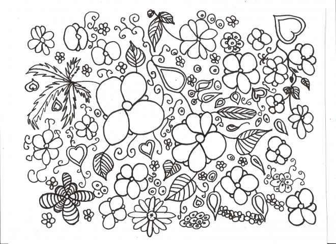 Coloriage et dessins gratuits Adulte Paysage Potager à imprimer