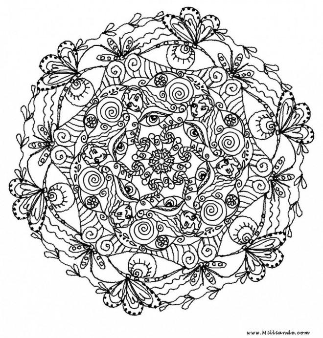 Coloriage et dessins gratuits Beauté de la nature Pour Adultes à imprimer