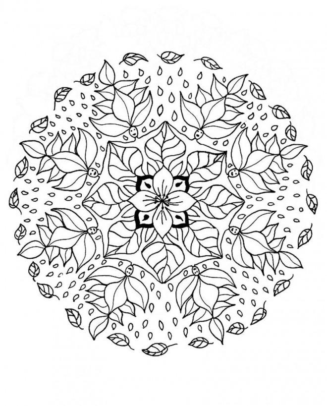 Coloriage et dessins gratuits Hiver Pour Adultes à imprimer