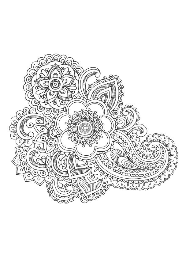 Coloriage et dessins gratuits Mandala Fleurs adulte à imprimer
