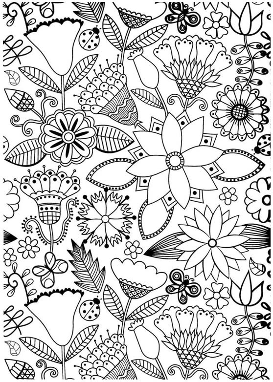 Coloriage et dessins gratuits Paysage Adulte Anti-stress à imprimer