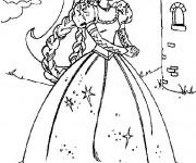 Coloriage Barbie dessin animé