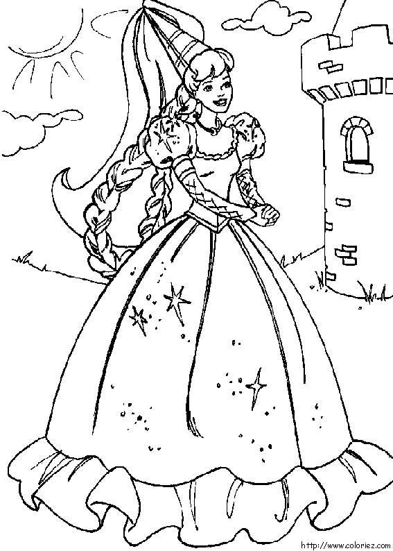 Coloriage barbie dessin anim dessin gratuit imprimer - Photo de barbie a imprimer ...