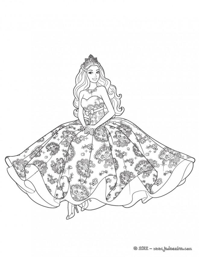 Coloriage et dessins gratuits Barbie En Ligne à imprimer