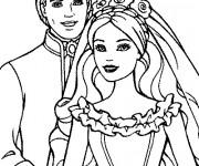 Coloriage Barbie et Le Prince