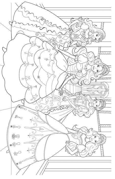 Coloriage et dessins gratuits Barbie et Les Princesses à imprimer