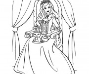Coloriage dessin  Barbie la princesse