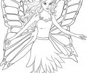 Coloriage Barbie Papillon