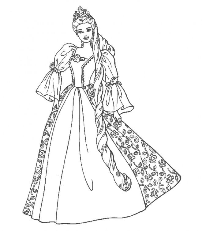 Coloriage et dessins gratuits Barbie princesse à imprimer à imprimer