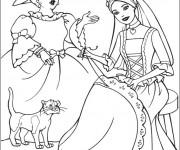 Coloriage Cendrillon dessin animé