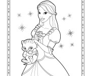 Coloriage dessin  Dessin Barbie facile