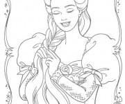 Coloriage La belle Barbie pour fille