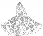 Coloriage dessin  Princesse Barbie 11