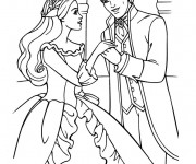 Coloriage dessin  Princesse Barbie 7