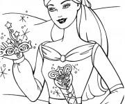 Coloriage Princesse Barbie ange