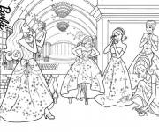 Coloriage Princesse Barbie Disney