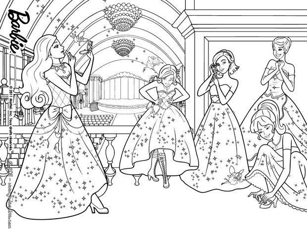 Coloriage et dessins gratuits Princesse Barbie Disney à imprimer