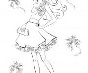 Coloriage Princesse Barbie et La Mode