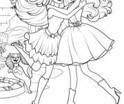Coloriage Princesse Barbie et sa meilleur amie
