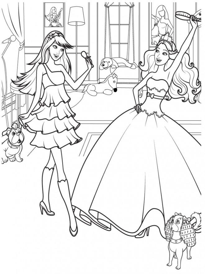 Coloriage Princesse Barbie magique