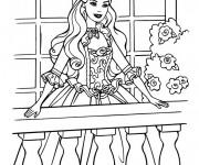 Coloriage Princesse Barbie mignonne