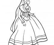 Coloriage Princesse Barbie stylisé
